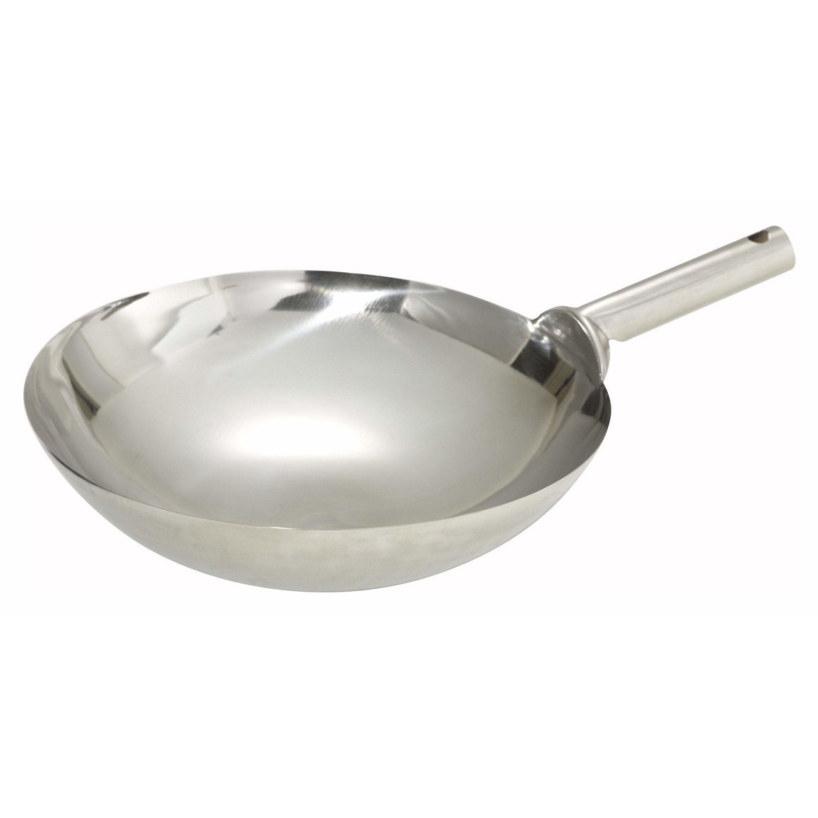 "Winco - WOK-14W - 14"" Stainless Steel Wok, Welded Joint - Cookware - Maltese & Co New and Used  restaurant Equipment"