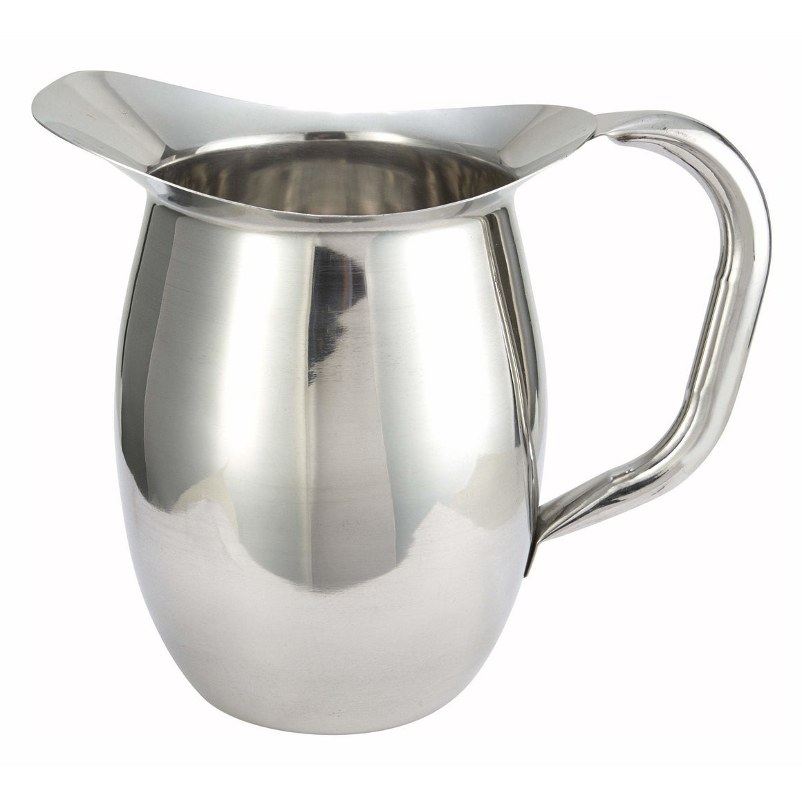 Winco - WPB-2 - 2qt Bell Pitcher, Stainless Steel - Beverage Service