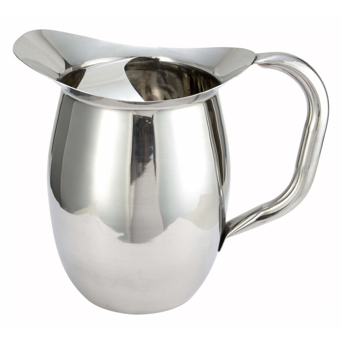 Winco - WPB-3C - 3qt Bell Pitcher w/Ice Catcher, Stainless Steel - Beverage Service