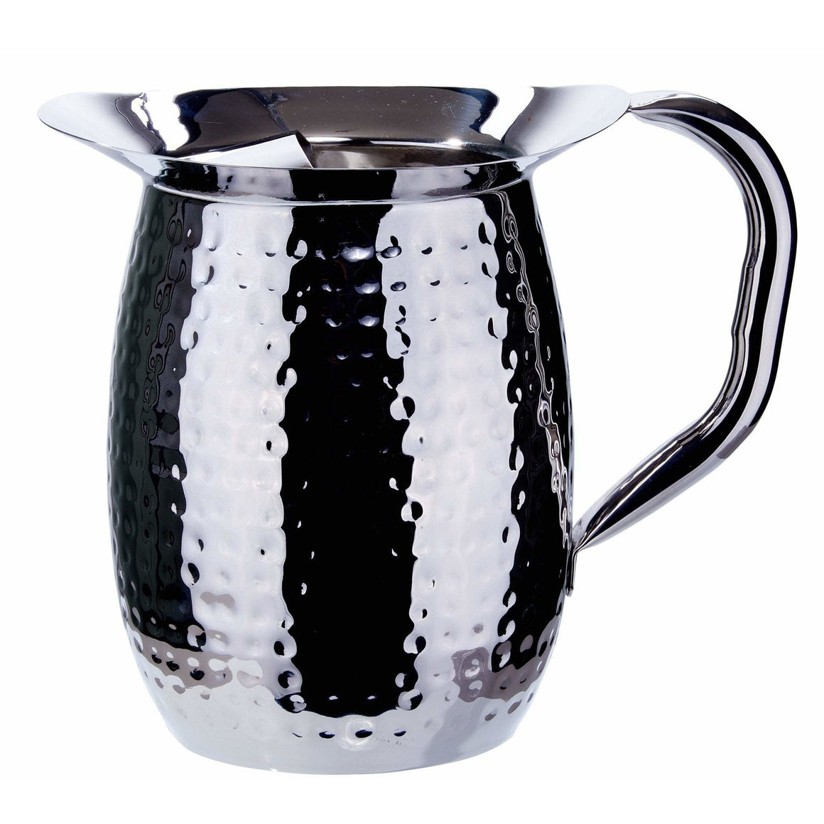Winco - WPB-3H - 3 Quart Bell Pitcher, Hammered, Stainless Steel - Beverage Service