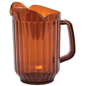 Winco - WPCT-60A - 60oz PC Pitcher, 3 Spout, Amber - Beverage Service - Maltese & Co New and Used  restaurant Equipment
