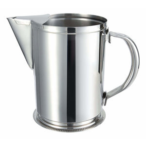 Winco - WPG-64 - 64oz Stainless Steel Water Pitcher w/Ice Guard - Beverage Service - Maltese & Co New and Used  restaurant Equipment