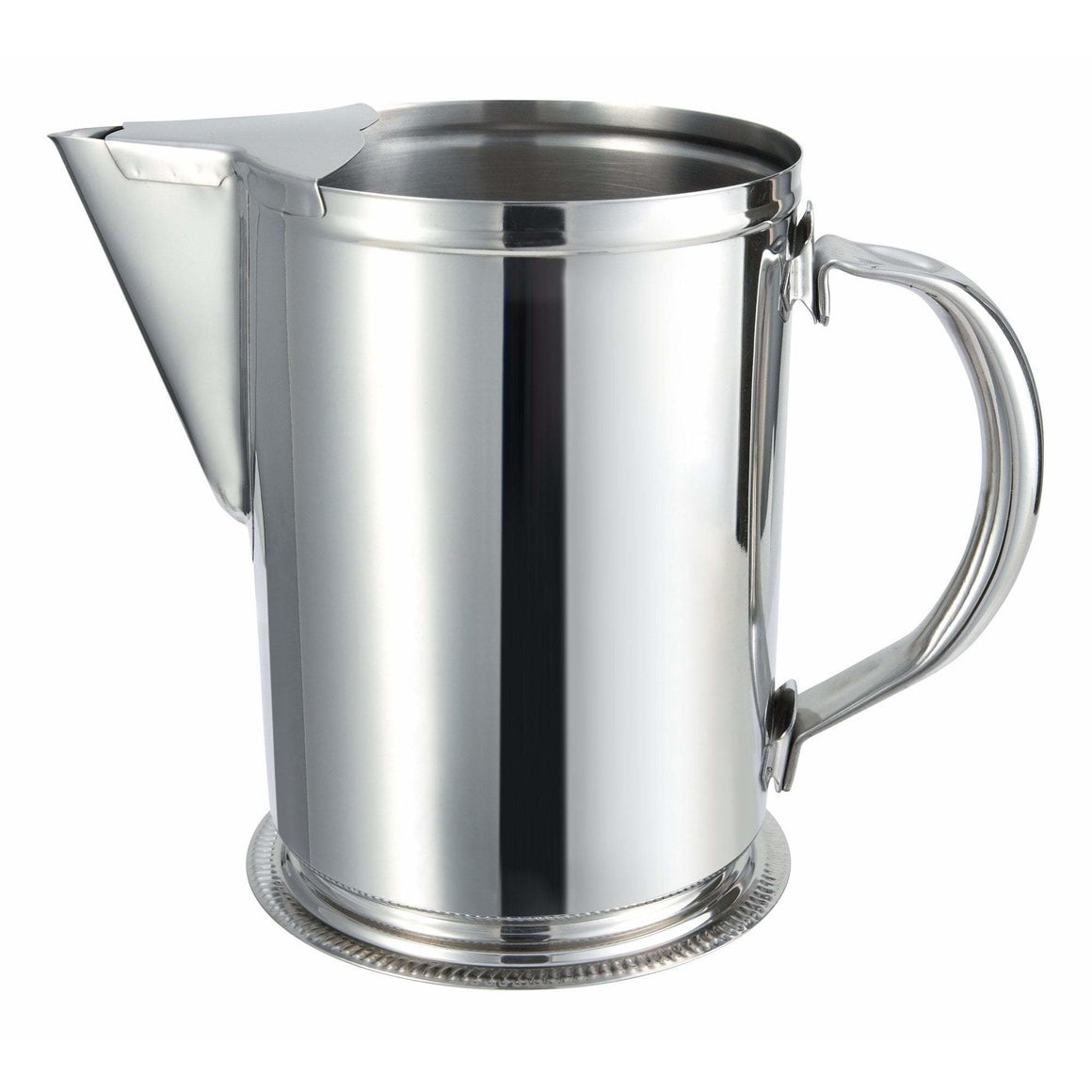 Winco - WPG-64 - 64oz Stainless Steel Water Pitcher w/Ice Guard - Beverage Service