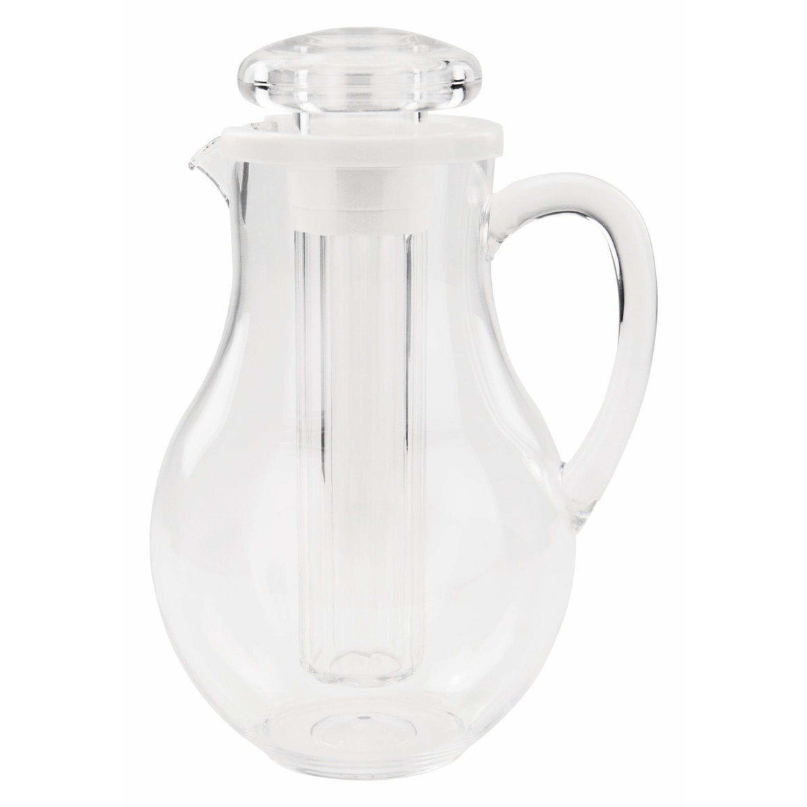Winco - WPIT-19 - 64oz PC Pitcher w/Ice Tube Core - Beverage Service - Maltese & Co New and Used  restaurant Equipment