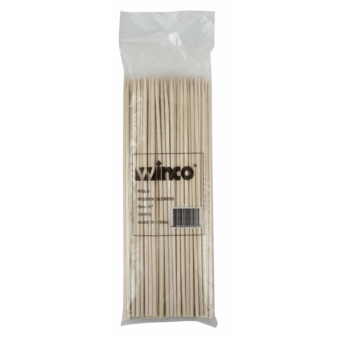 "Winco - WSK-08 - 8"" Bamboo Skewers, 100/bag - Kitchen Utensils"