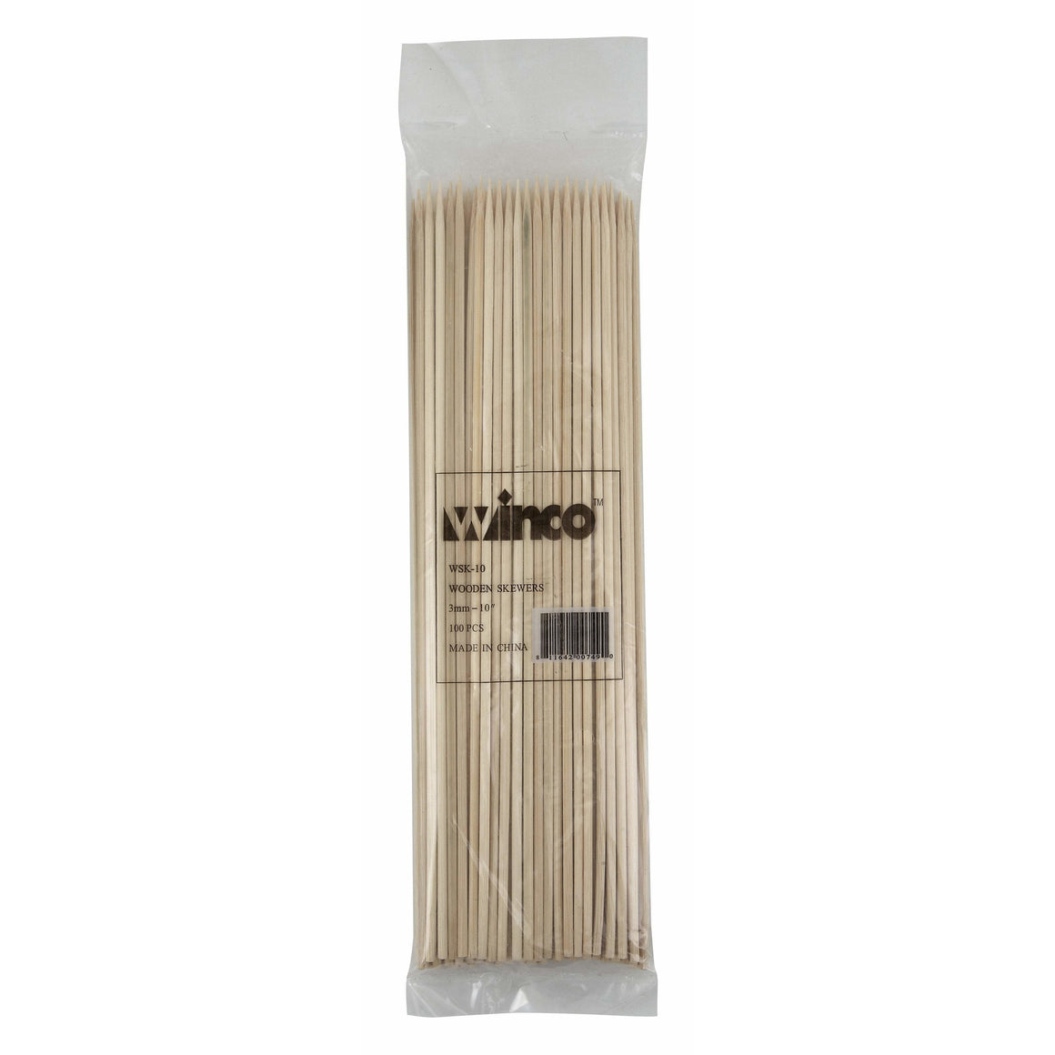 "Winco - WSK-10 - 10"" Bamboo Skewers, 100/bag - Kitchen Utensils"