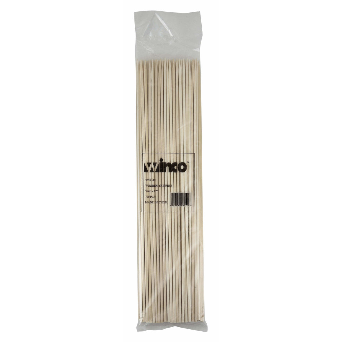 "Winco - WSK-12 - 12"" Bamboo Skewers, 100/bag - Kitchen Utensils"