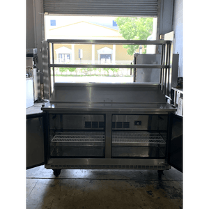 "USED Everest Refrigerated 60"" Counter, Sandwich / Salad Unit with over shelf EPBNWR2"