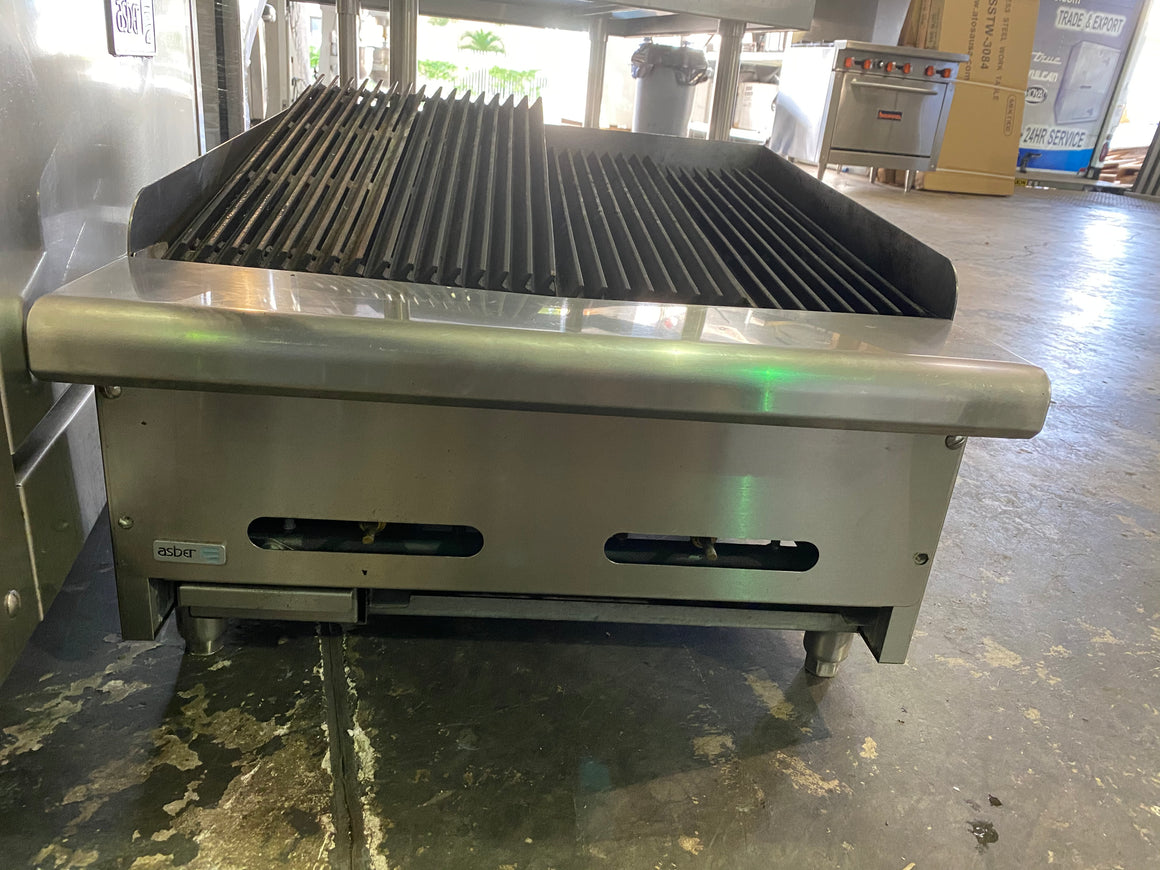 "ASBER AERB-24 24"" CHARBROILER GRILL COUNTER TOP GAS"