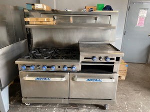 Imperial 6 Burner Range with Attached Griddle