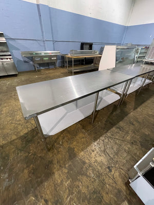 Used Stainless Steel Work Table SSTW-3084 - Maltese & Co