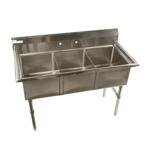 KLINGERS ECS3 STAINLESS STEEL 3 COMPARTMENT CONVENIENCE /  DELI SINK