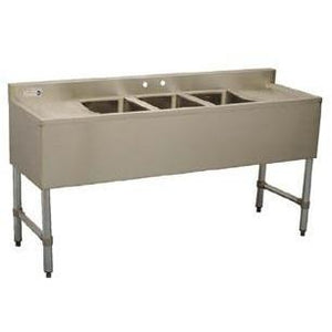 Stortec - Underbar Sink, 3-compartment- SS-BAR3B60LR-122716-N