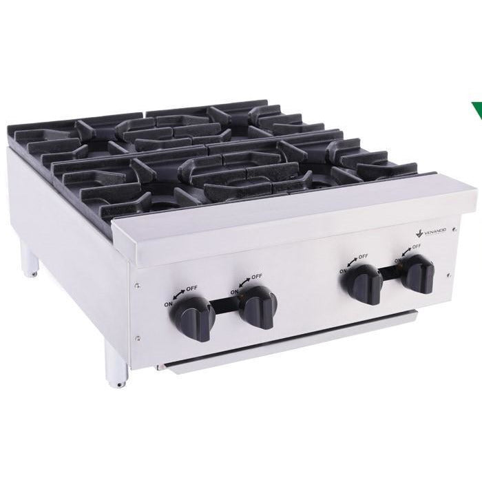 "Venancio - 24"" Gas Hot Plate - 4 Burner Controls - FA4M"