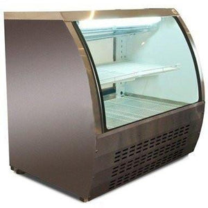 "SABA AIR- 47"" CURVED GLASS DELI CASE - Maltese & Co"