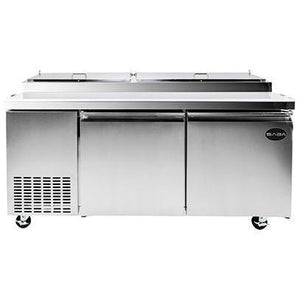"Saba Air - 70"" Two Door Pizza Prep Table with Pans-SB-SPP709-8117-N - Maltese & Co New and Used  restaurant Equipment"