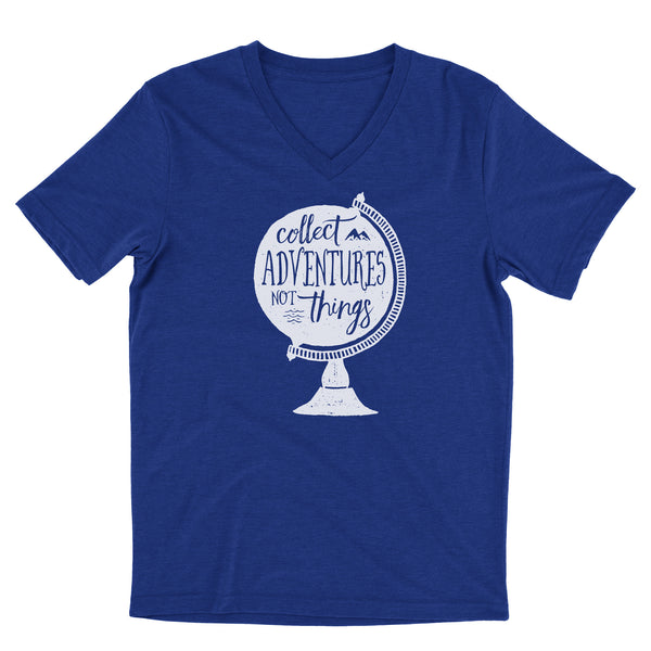 Collect Adventures Not Things / Unisex / V-neck