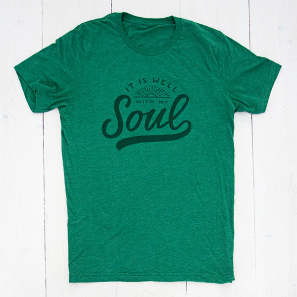 It Is Well With My Soul / Grass Green / Unisex / Crew Neck