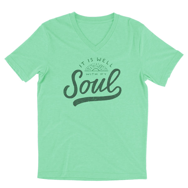 It Is Well With My Soul / Apple Green / Unisex / V-Neck