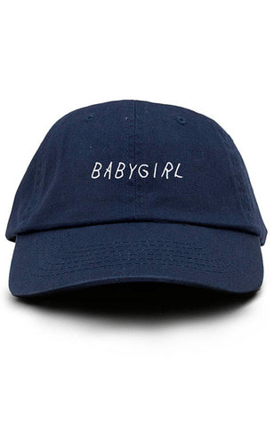 Babygirl Dad Hat Adjustable Baseball Cap New - Navy