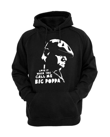 Big Poppa Biggie Smalls Notorious Hoodie Black Sizes S M L XL 2XL 100% Cotton