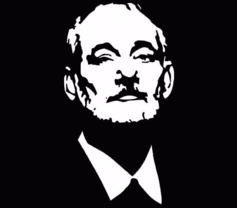 Bill Murray Outline Face Figure Car Vinyl Window Decal Truck White