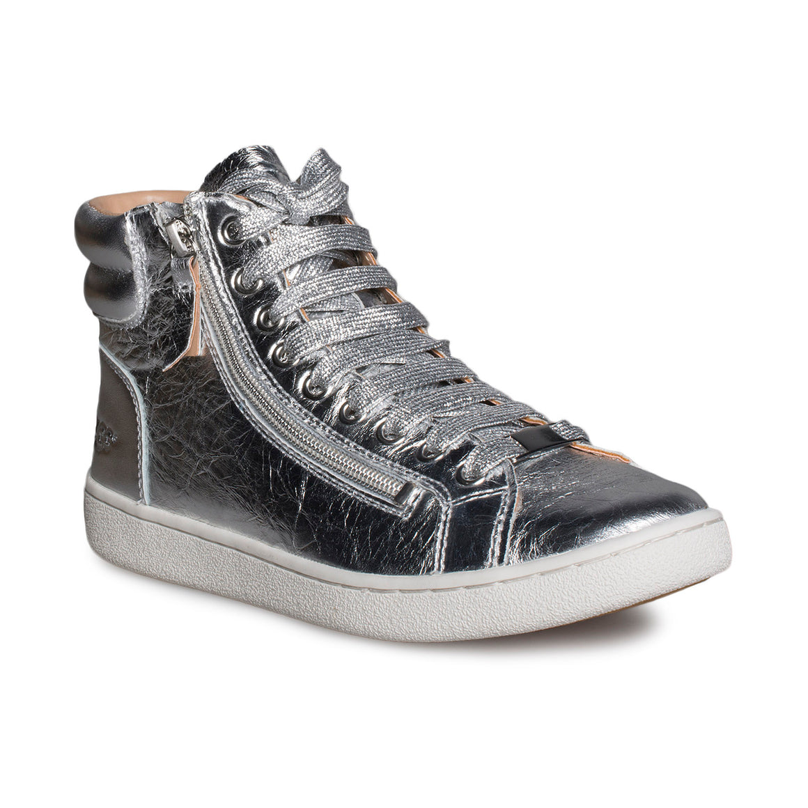 UGG Olive Metallic Silver Sneakers - Women's