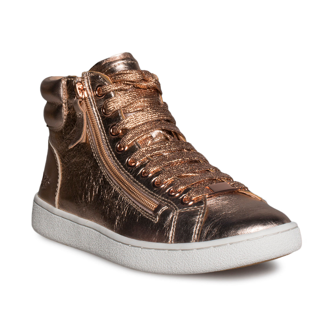 UGG Olive Metallic Red Gold Sneakers - Women's