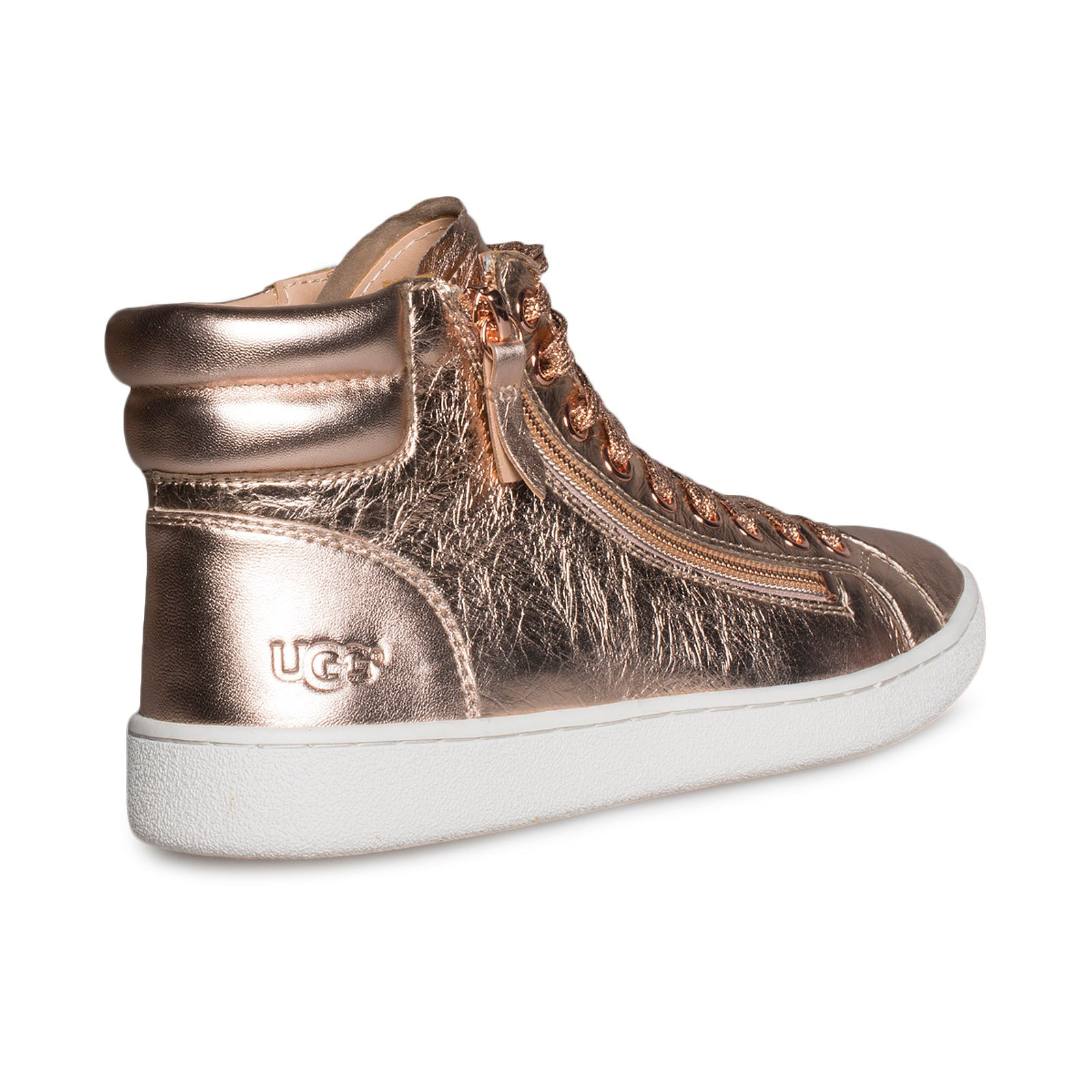 UGG Olive Metallic Red Gold Sneakers