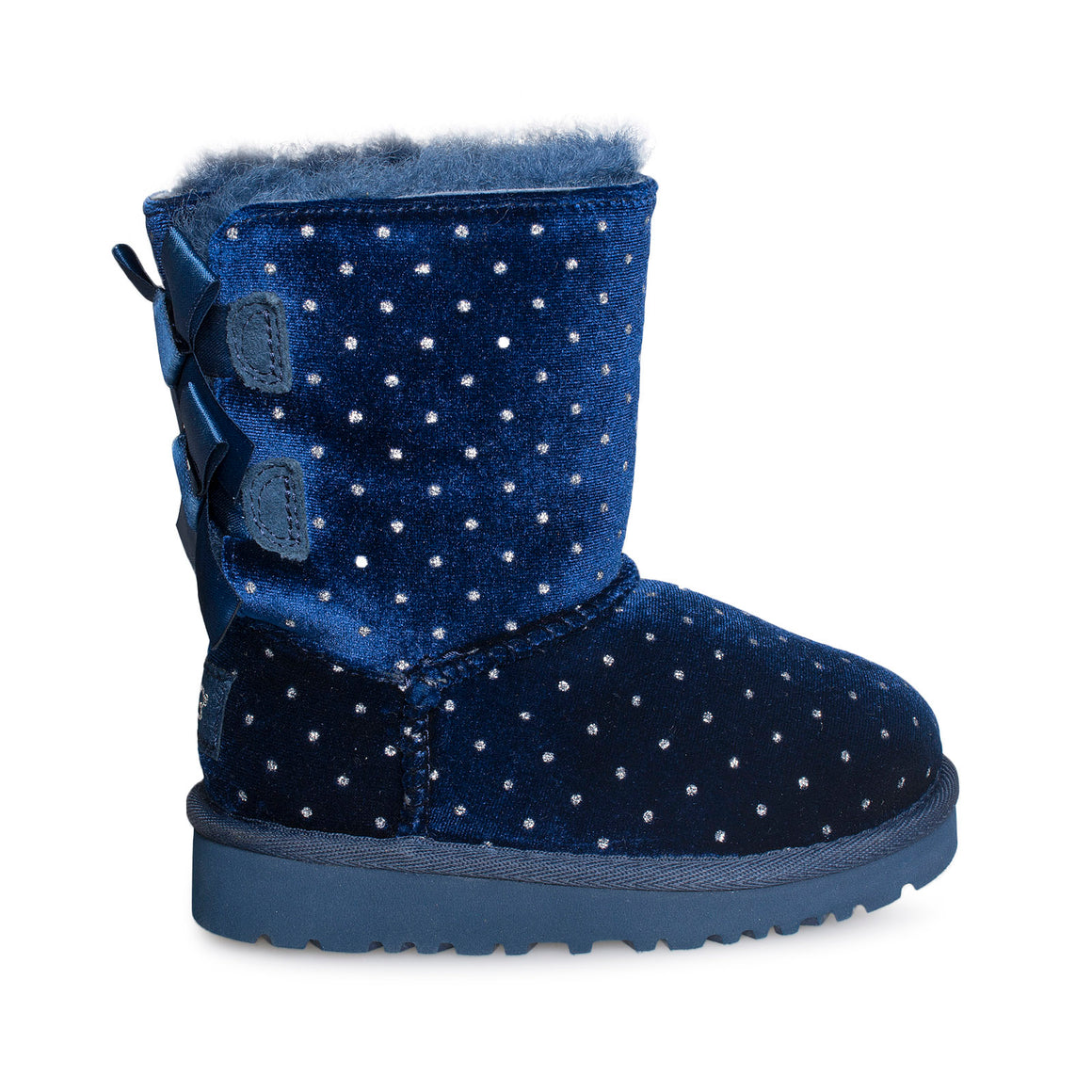 UGG Bailey Bow Starlight Navy Boots - Little Kid