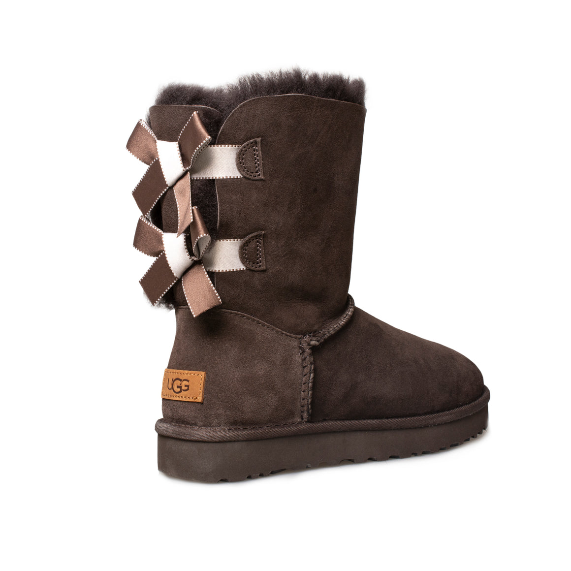 UGG Bailey Bow II Shimmer Chocolate Boots - Women's