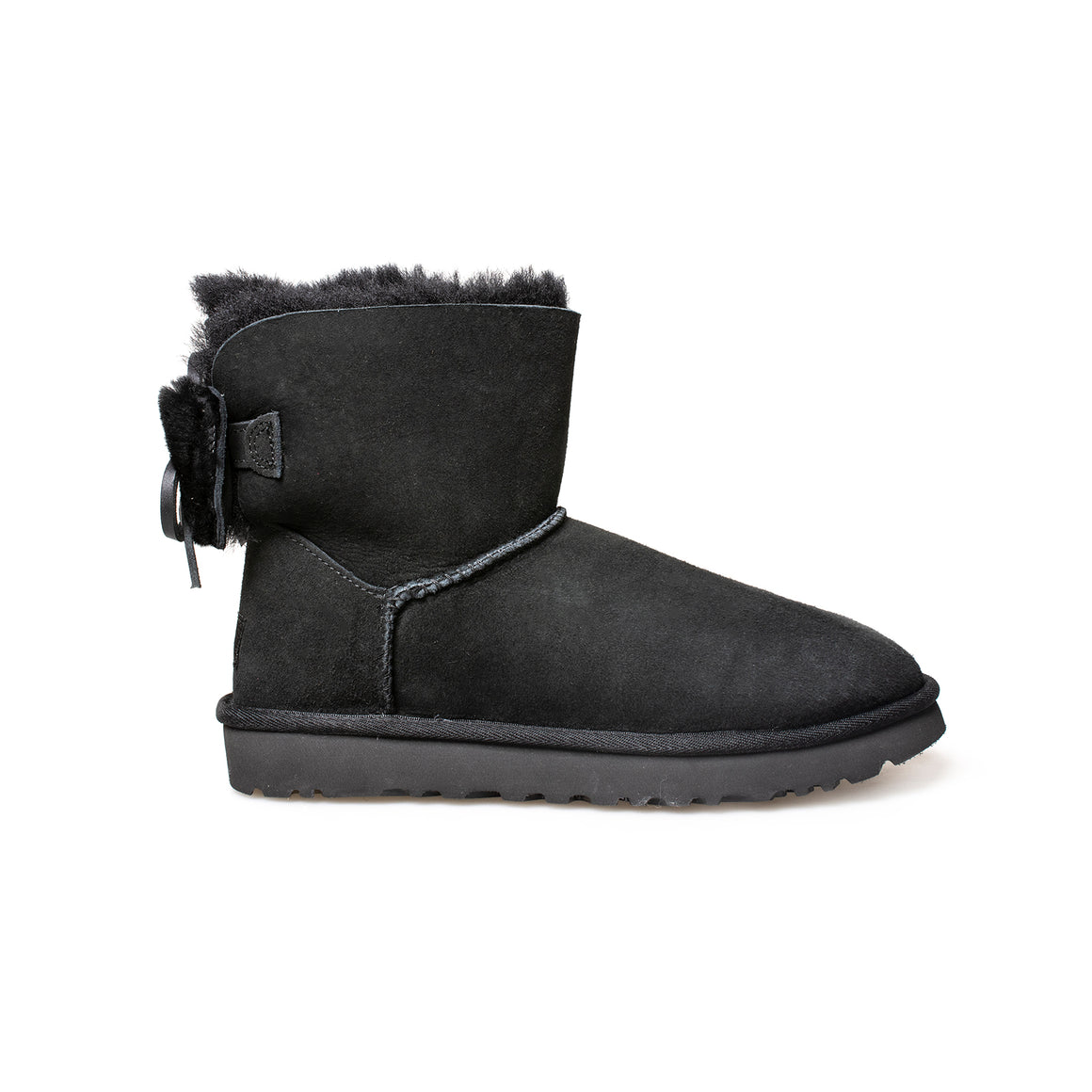 UGG Classic Double Bow Mini Black Boots - Women's