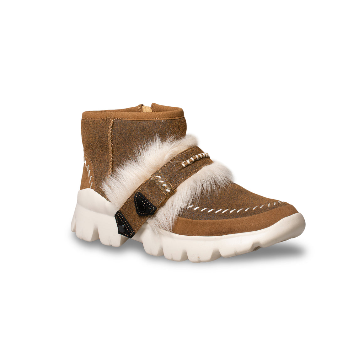 UGG Fluff Punk Ankle Chestnut Boots - Women's