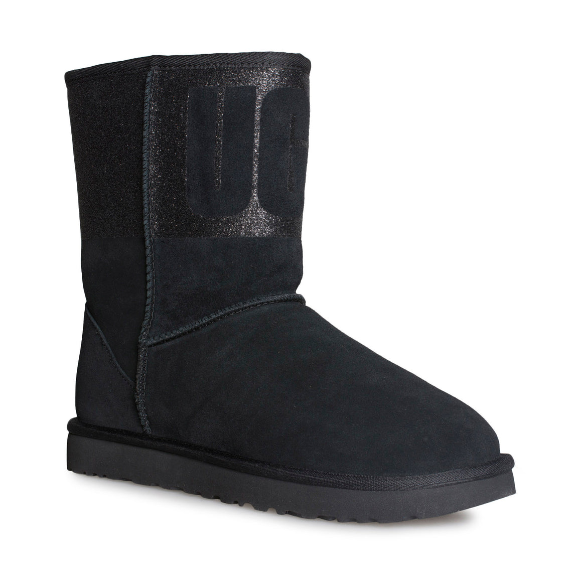 UGG Classic Short UGG Sparkle Black Boots - Women's
