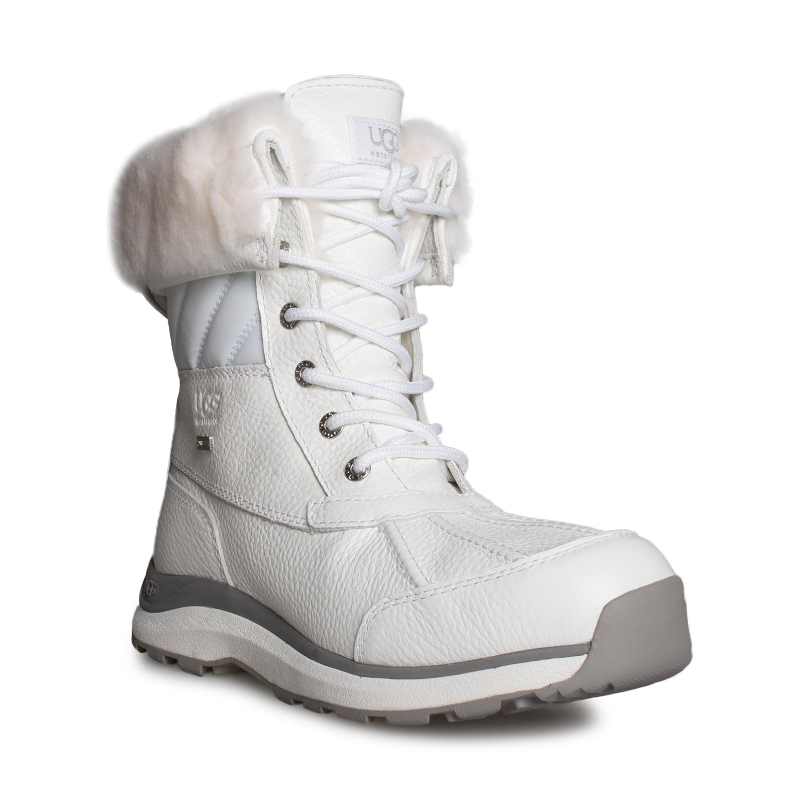 7a4c4c148 UGG Adirondack III Quilt White Boots - Women's - MyCozyBoots