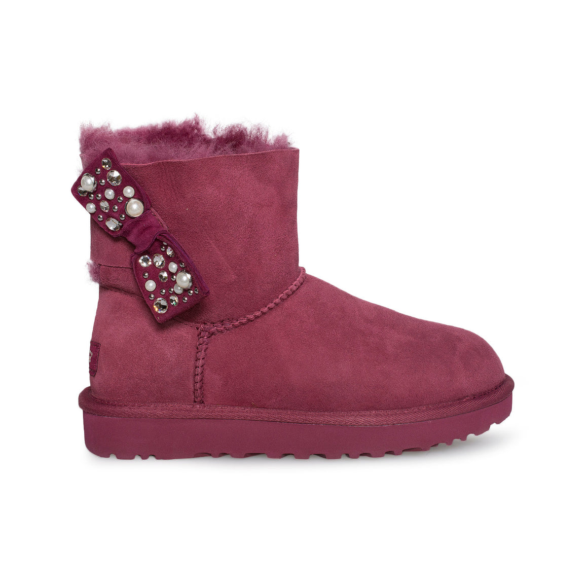 UGG Mini Bailey Bow Brilliant Garnet Boots