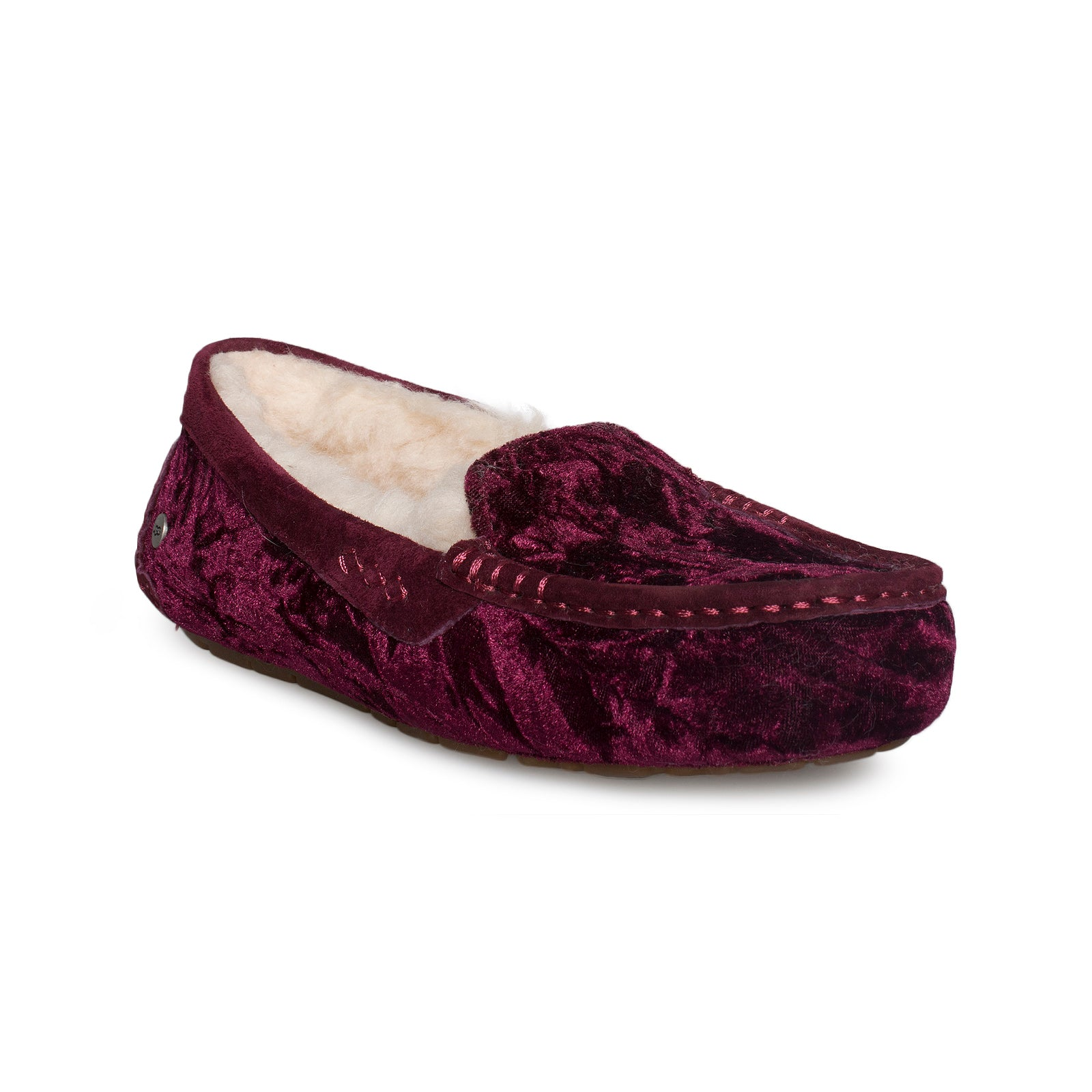 cff0a96a3be UGG Ansley Crushed Velvet Fig Slippers