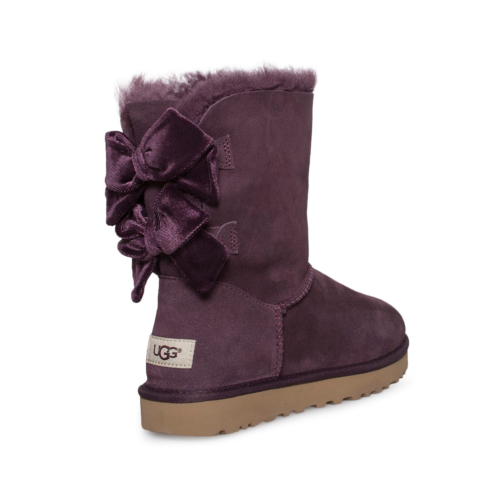 b70ccec1137 UGG Bailey bow II Velvet Ribbon Port Boots