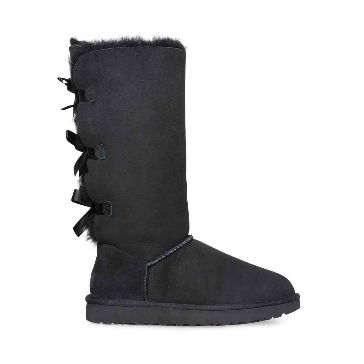 UGG Bailey Bow Tall II Black Boots - Youth