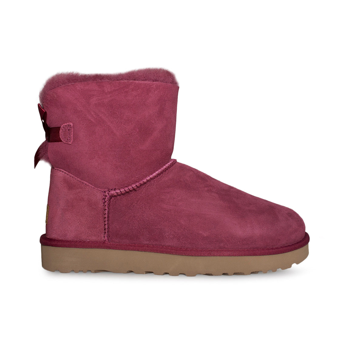 UGG Mini Bailey Bow II Garnet Boots - Women's