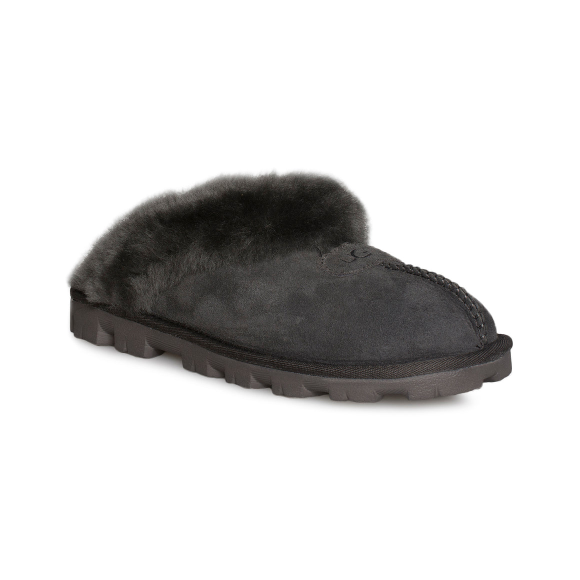 UGG Coquette Black Olive Slippers - Women's