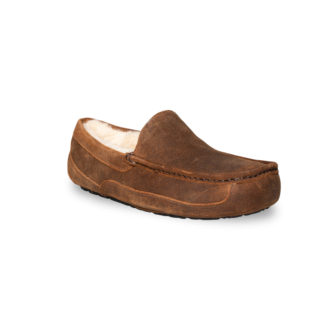 UGG Ascot Oiled Suede Chestnut Slippers - Men's