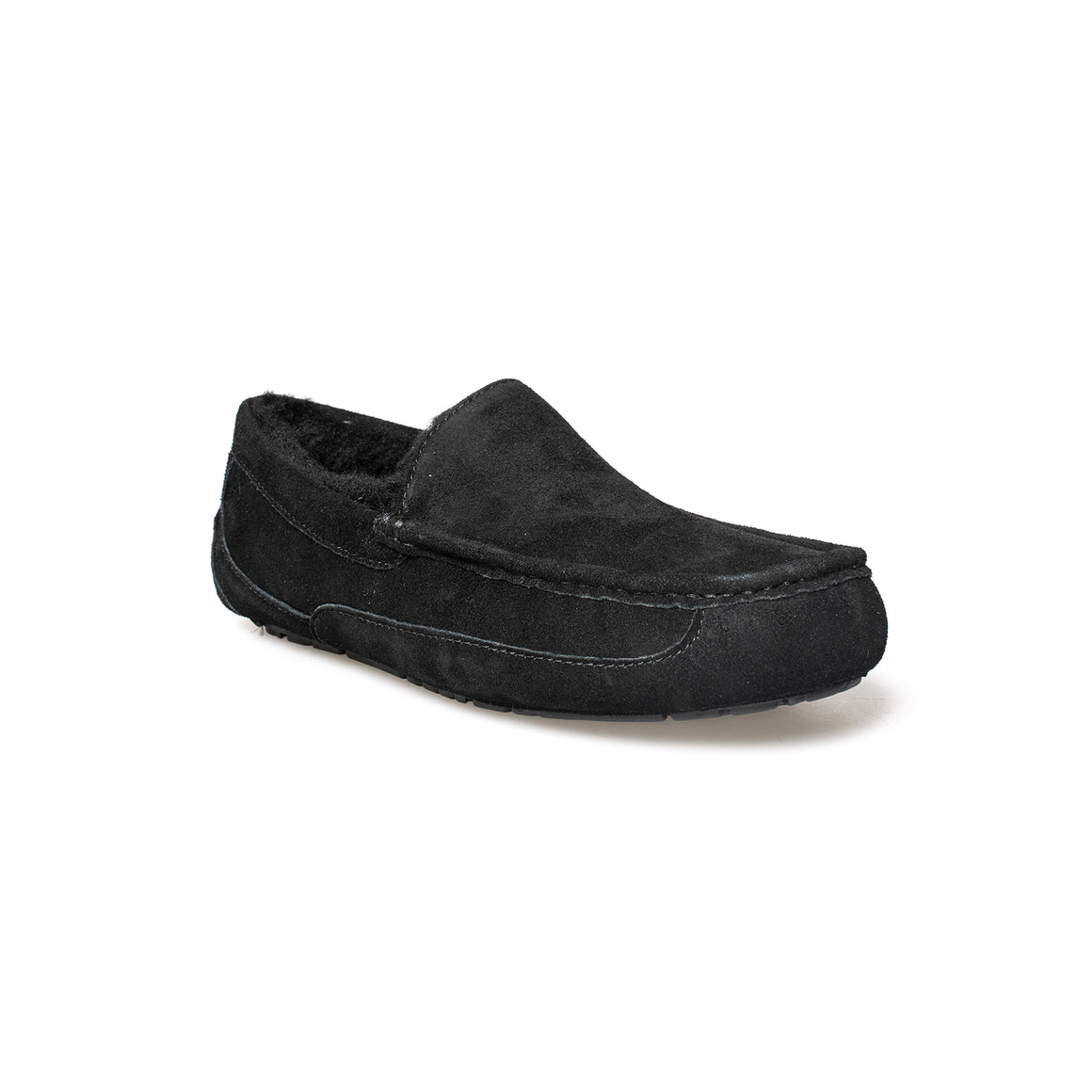UGG Ascot Oiled Suede Black Slippers - Men's