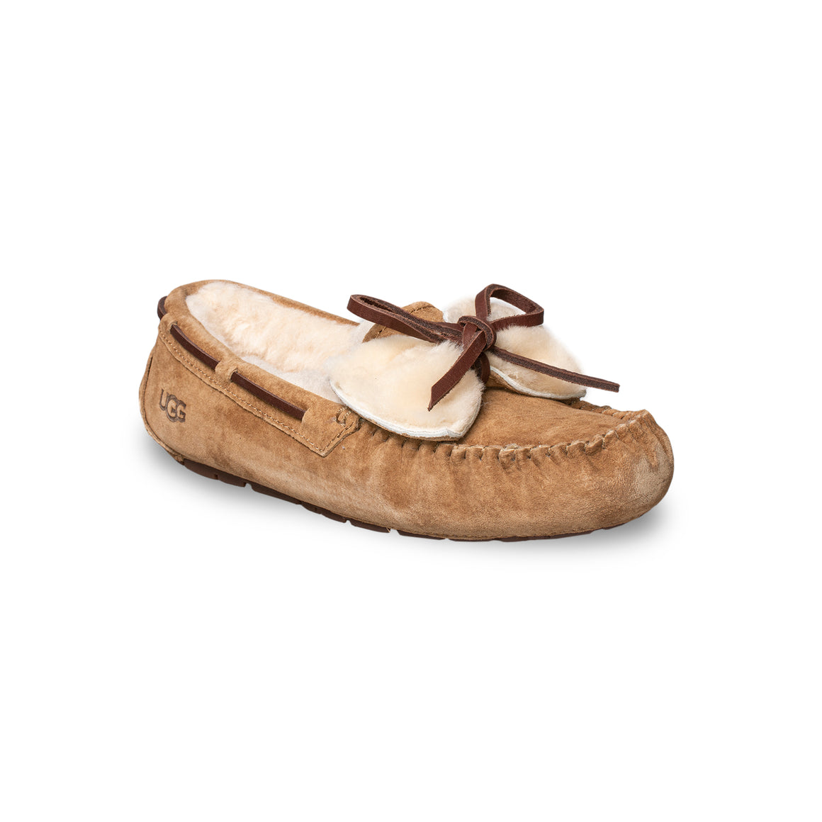 UGG Dakota Double Bow Chestnut Slippers - Women's