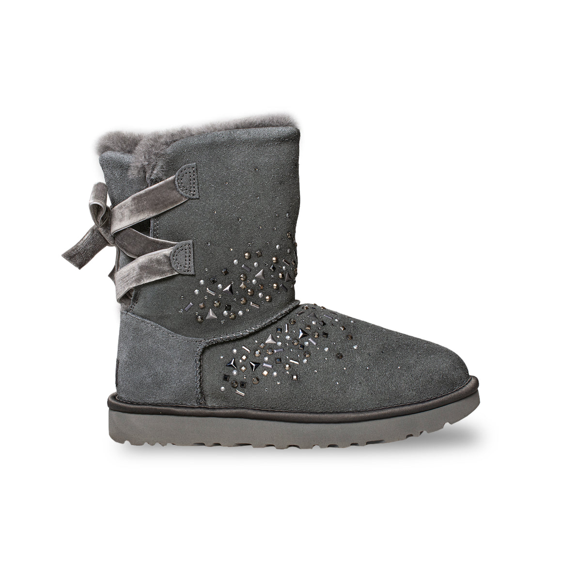 UGG Classic Galaxy Bling Short Charcoal Boots - Women's