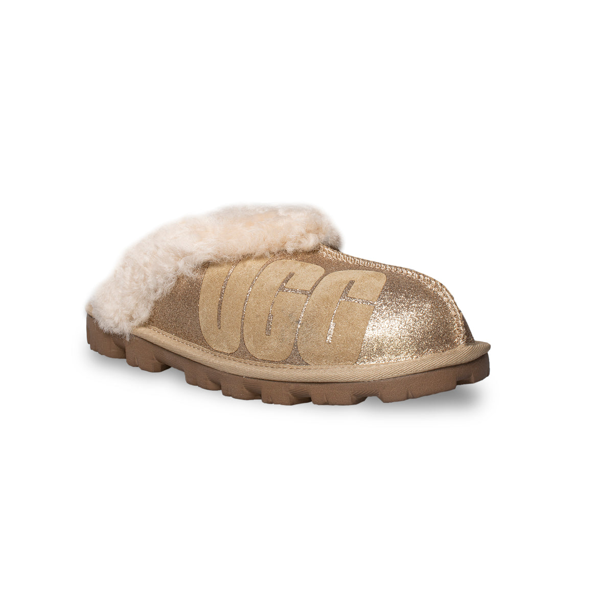 UGG Coquette UGG Sparkle Gold Slippers - Women's