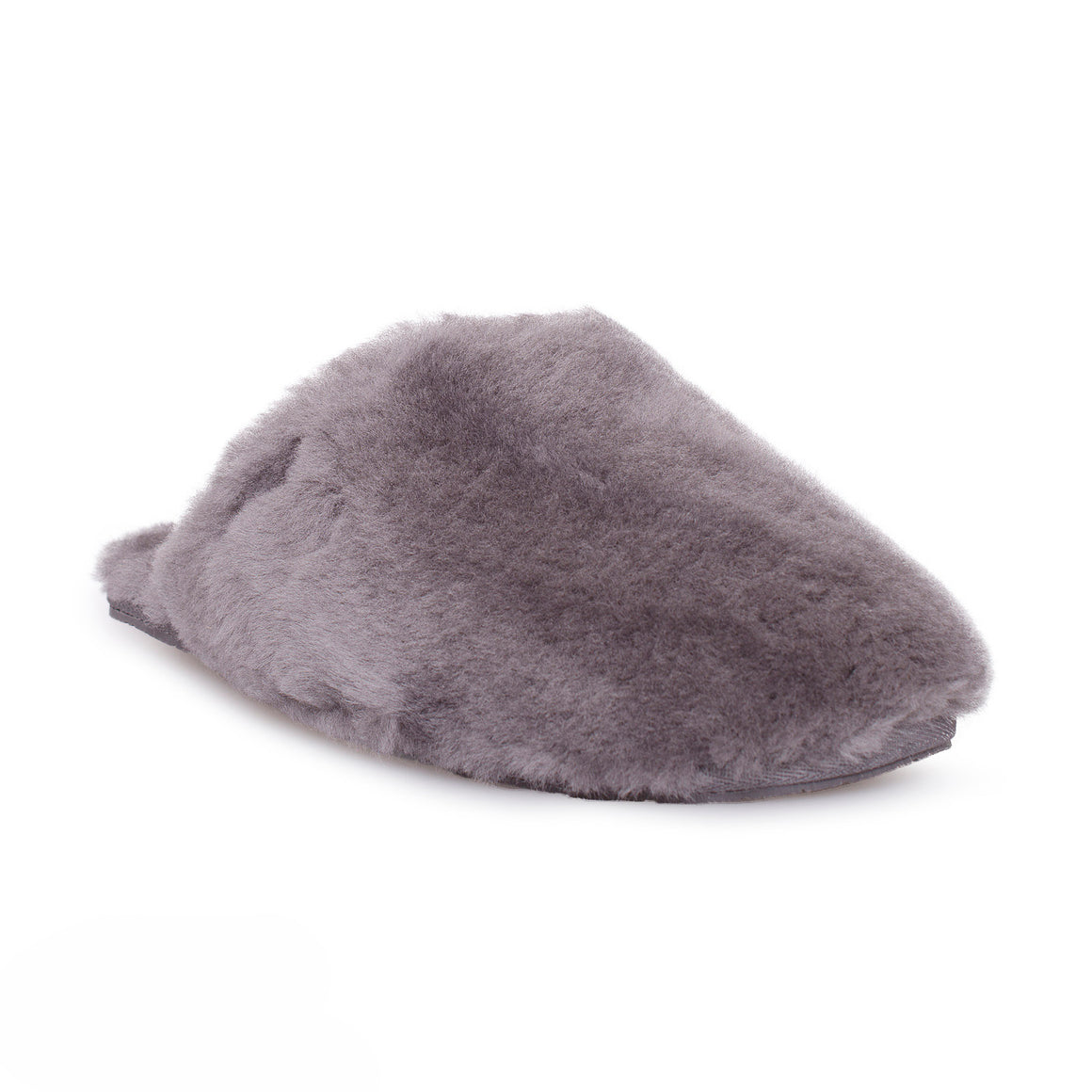 UGG Fluff Clog Grey Slippers - Women's