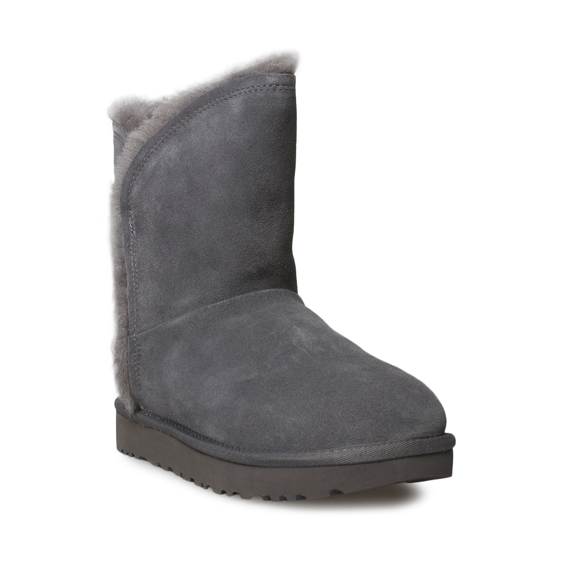 UGG Classic Short Fluff High Low Charcoal Boots - Women's