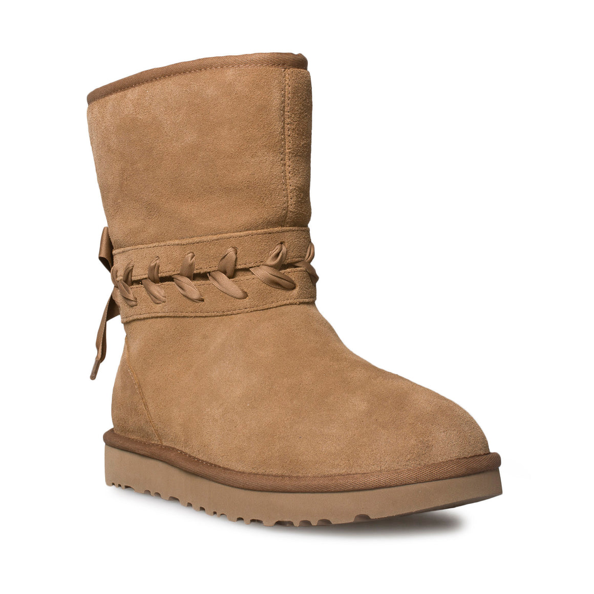 UGG Classic Lace Short Chestnut Boots - Women's