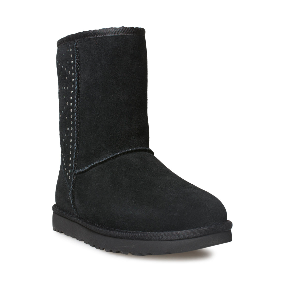 UGG Classic Short Studded Black Boots - Women's